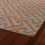 Orange and Grey Area Rug
