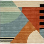 Orange and Turquoise Area Rug
