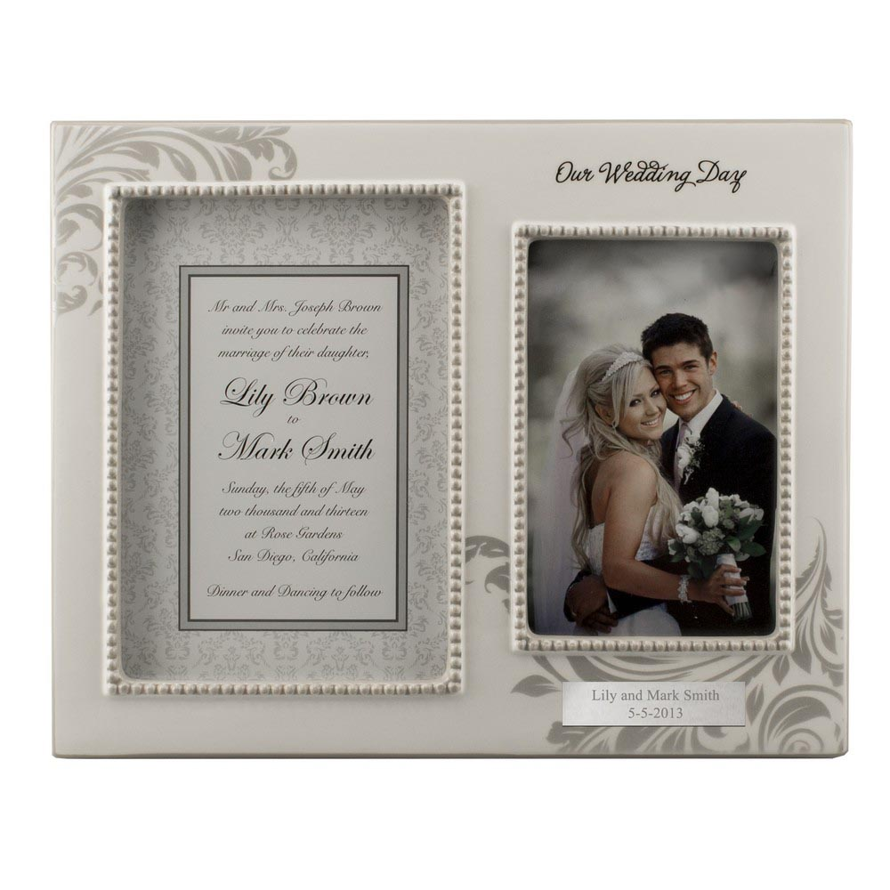 Personalized silver photo frames best decor things for Best place to get picture frames