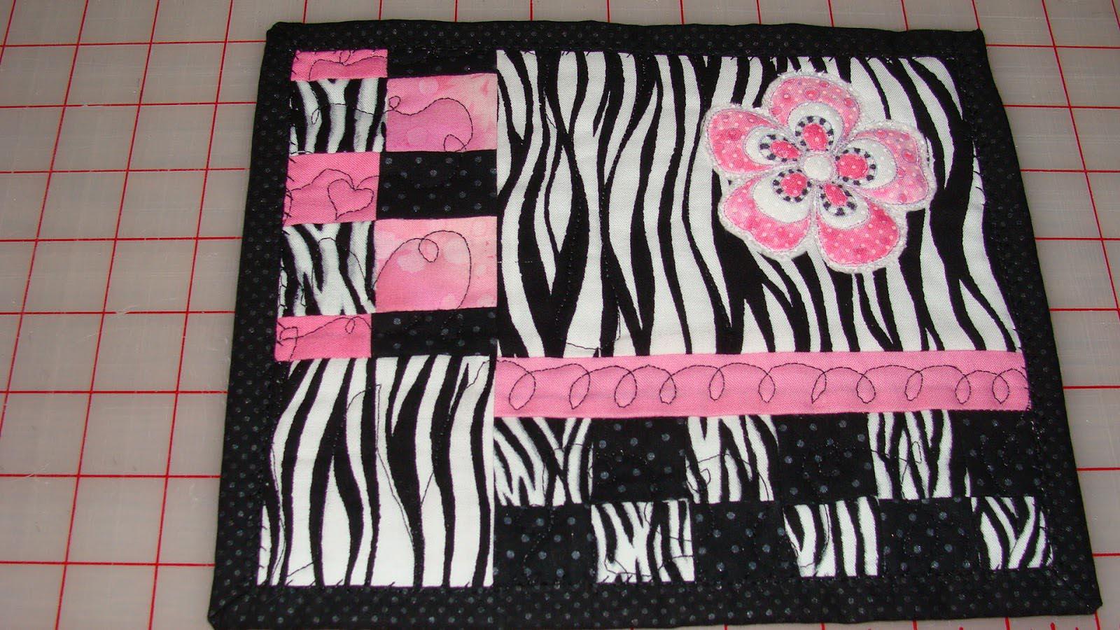 Pink Zebra Area Rug