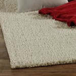 Pure White Shag Rug
