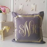 Purple and Gold Throw Pillows