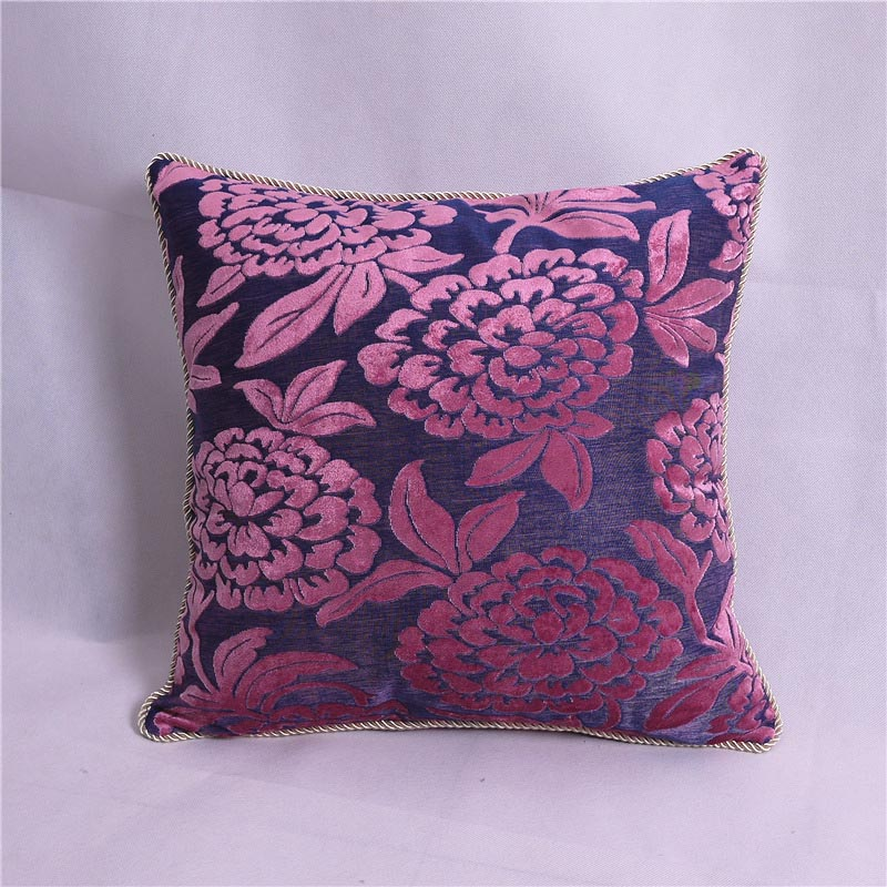 Purple Velvet Throw Pillows