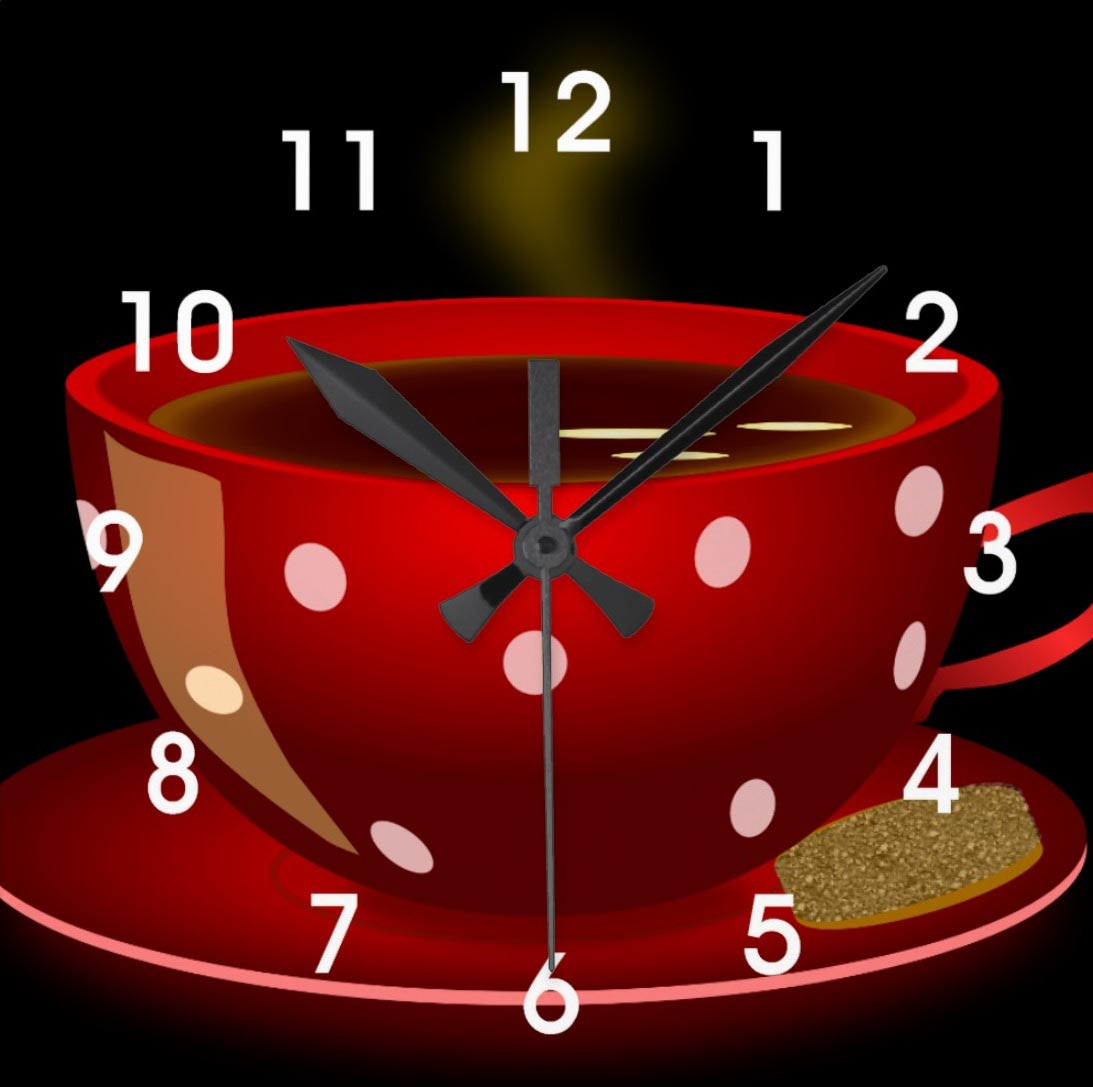 Red Kitchen Wall Clocks