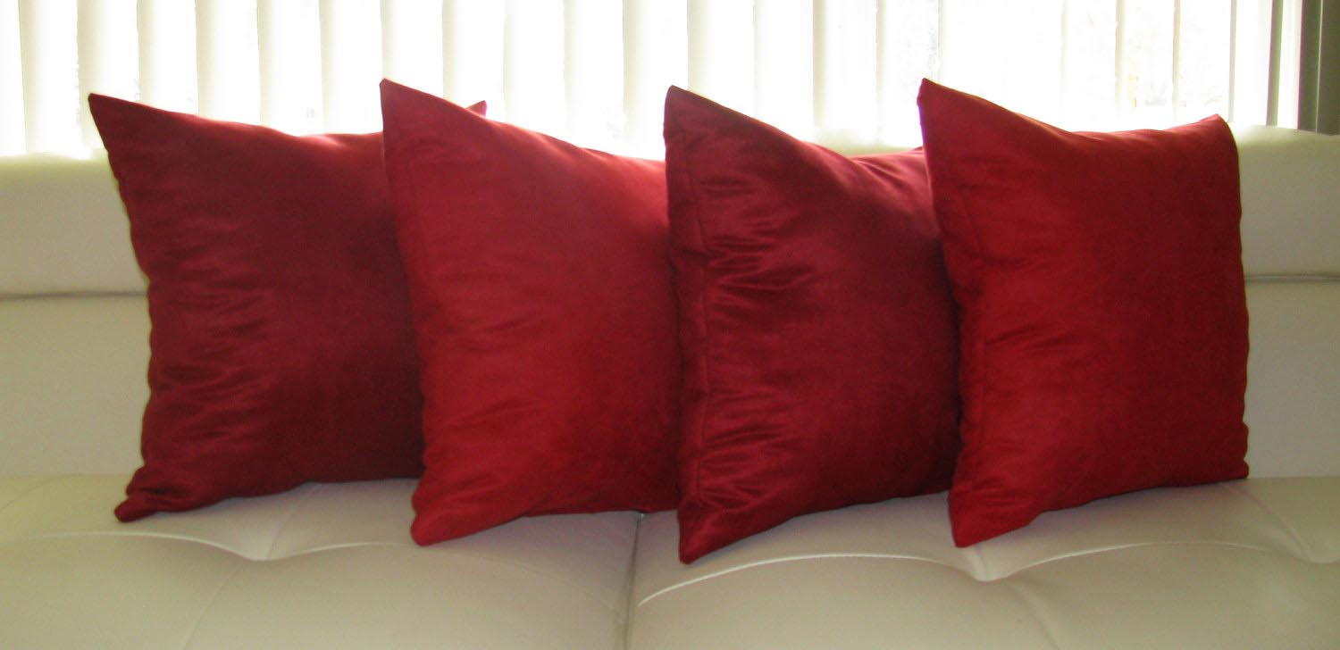 Red throw pillows for sofa best decor things for Decor pillows