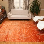 Round Orange Area Rug