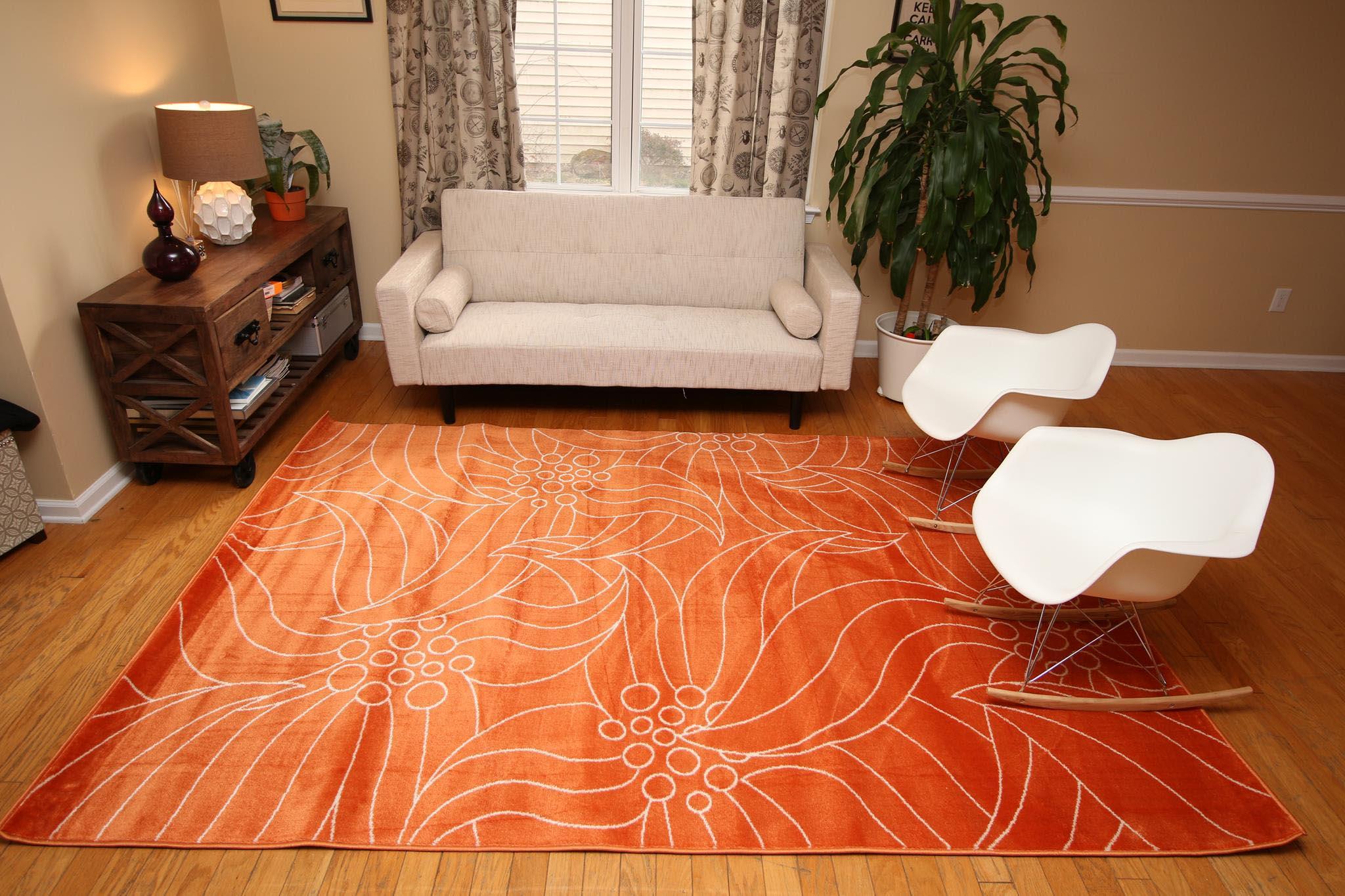 round orange area rug best decor things