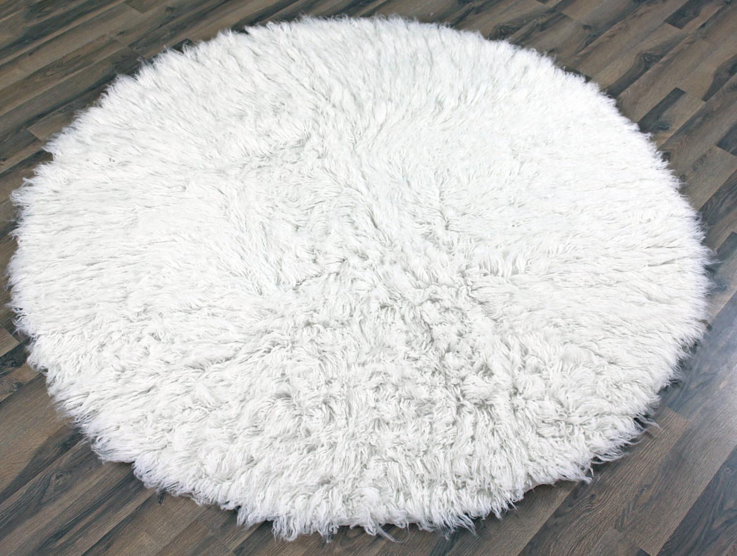 Big White Fluffy Rug Rugs Ideas