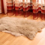 Round White Furry Rug