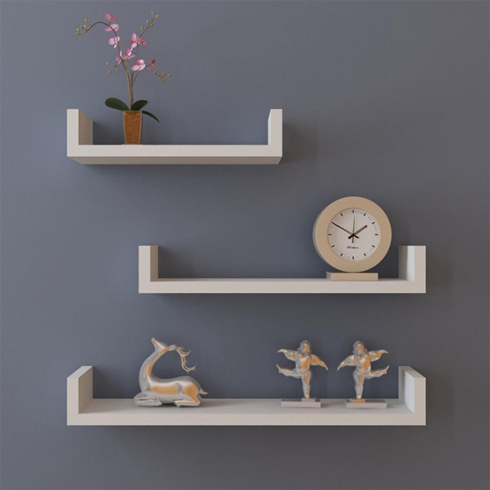 Shelves hanging on wall best decor things Best wall decor