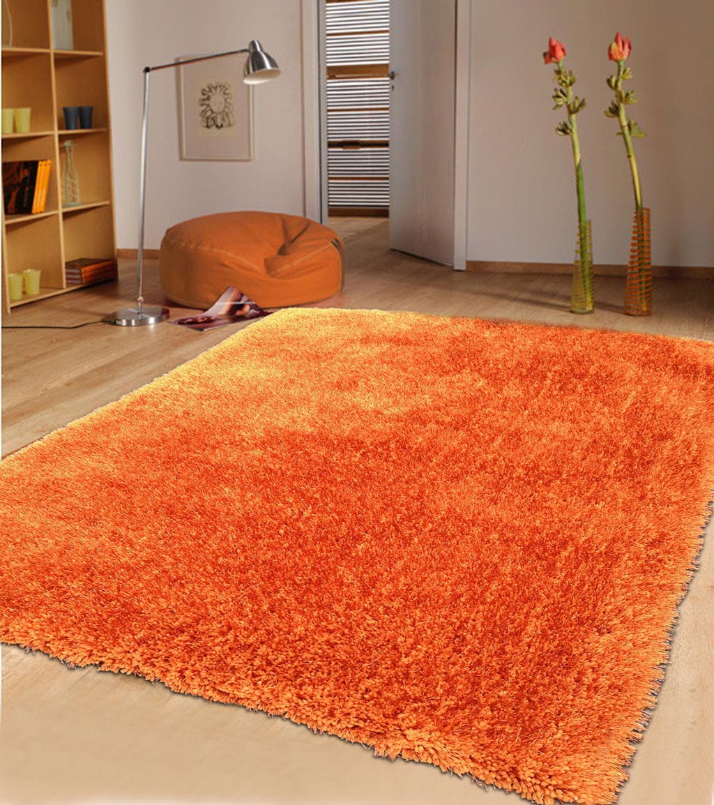 Solid Orange Area Rug