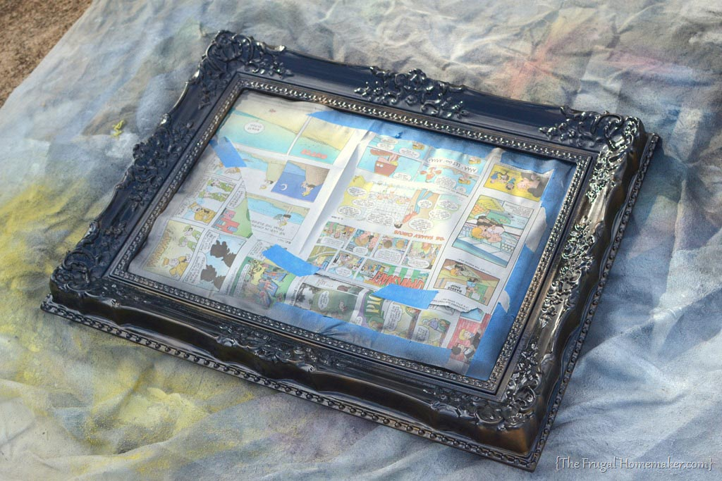 Spray Painting Picture Frames