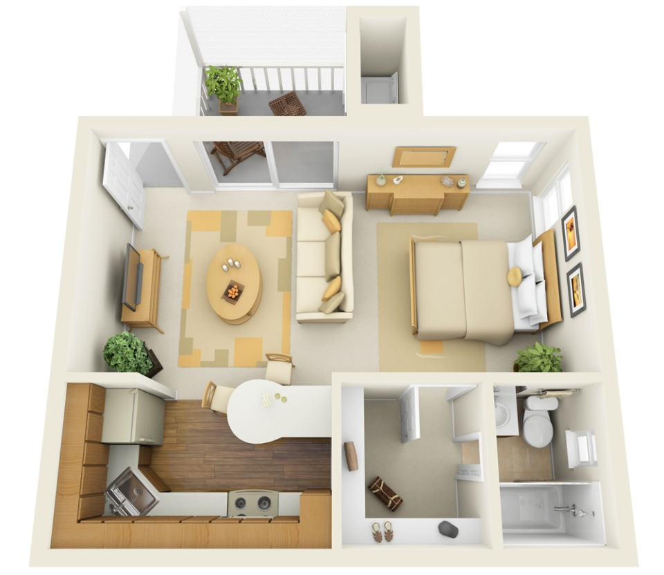 Studio Apartment Floor Plans Furniture Layout | Best Decor Things