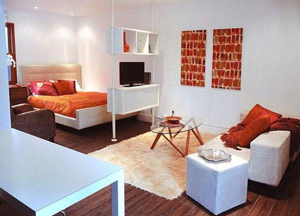 Studio apartment furniture arrangement best decor things for Apartment furniture