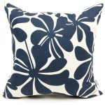 Throw Pillows Navy Blue