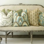 Throw Pillows on Sofa