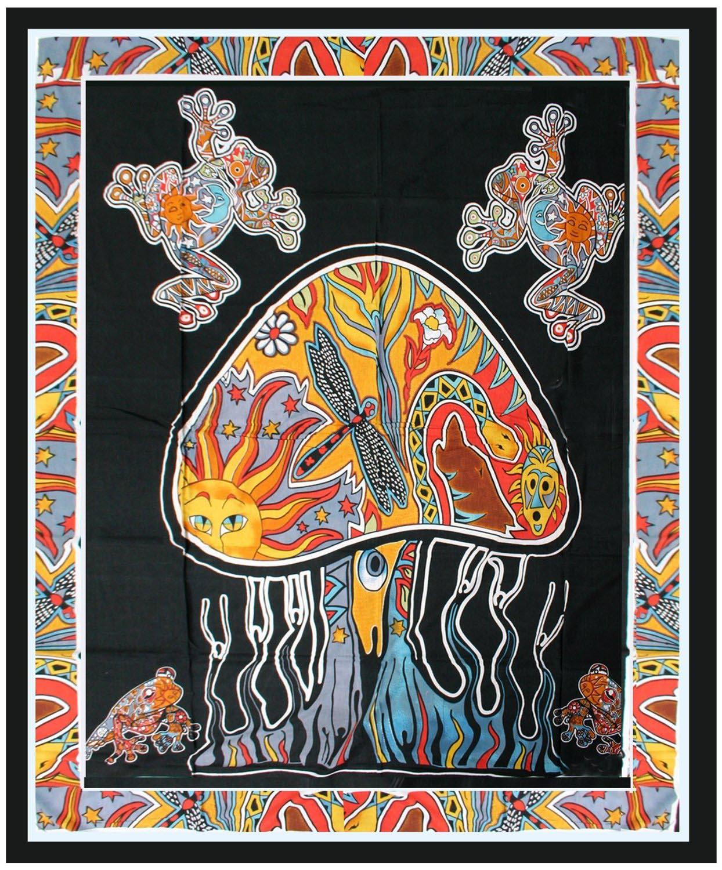 Trippy Mushroom Tapestries