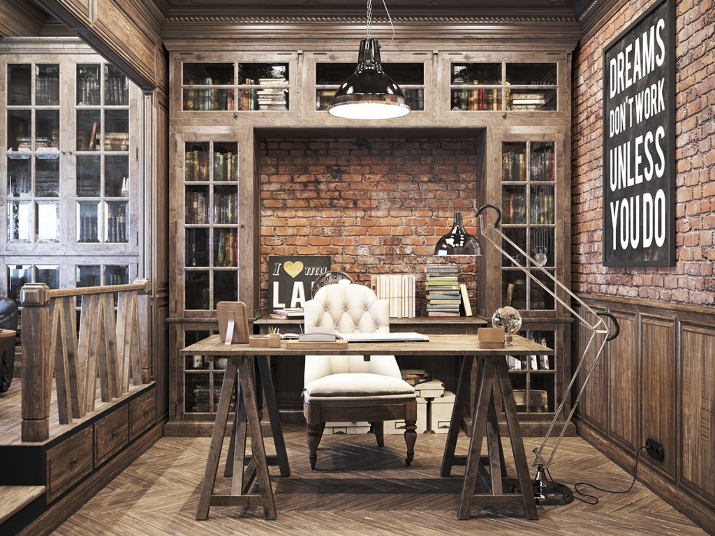 Vintage style office furniture best decor things for Vintage home office furniture