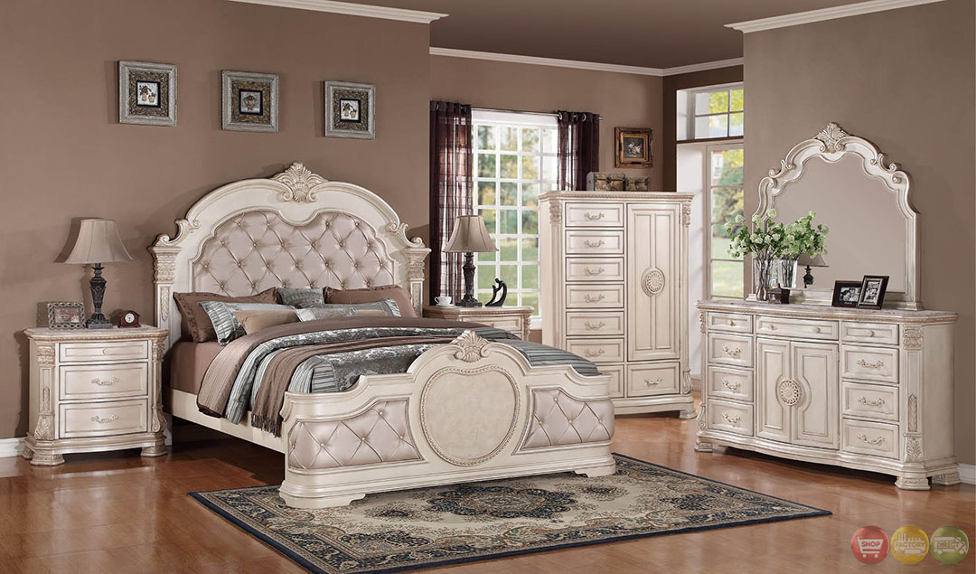 Vintage white bedroom furniture best decor things for Black and white vintage bedroom ideas