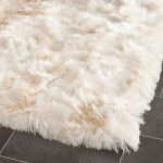White Fuzzy Bathroom Rug