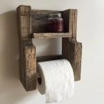 Wooden Bathroom Wall Shelves