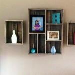 Wooden Box Wall Shelves