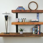 Wooden Floating Wall Shelves