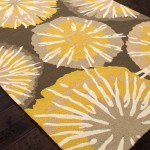 Yellow and Grey Rug