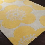 Yellow Floral Area Rug