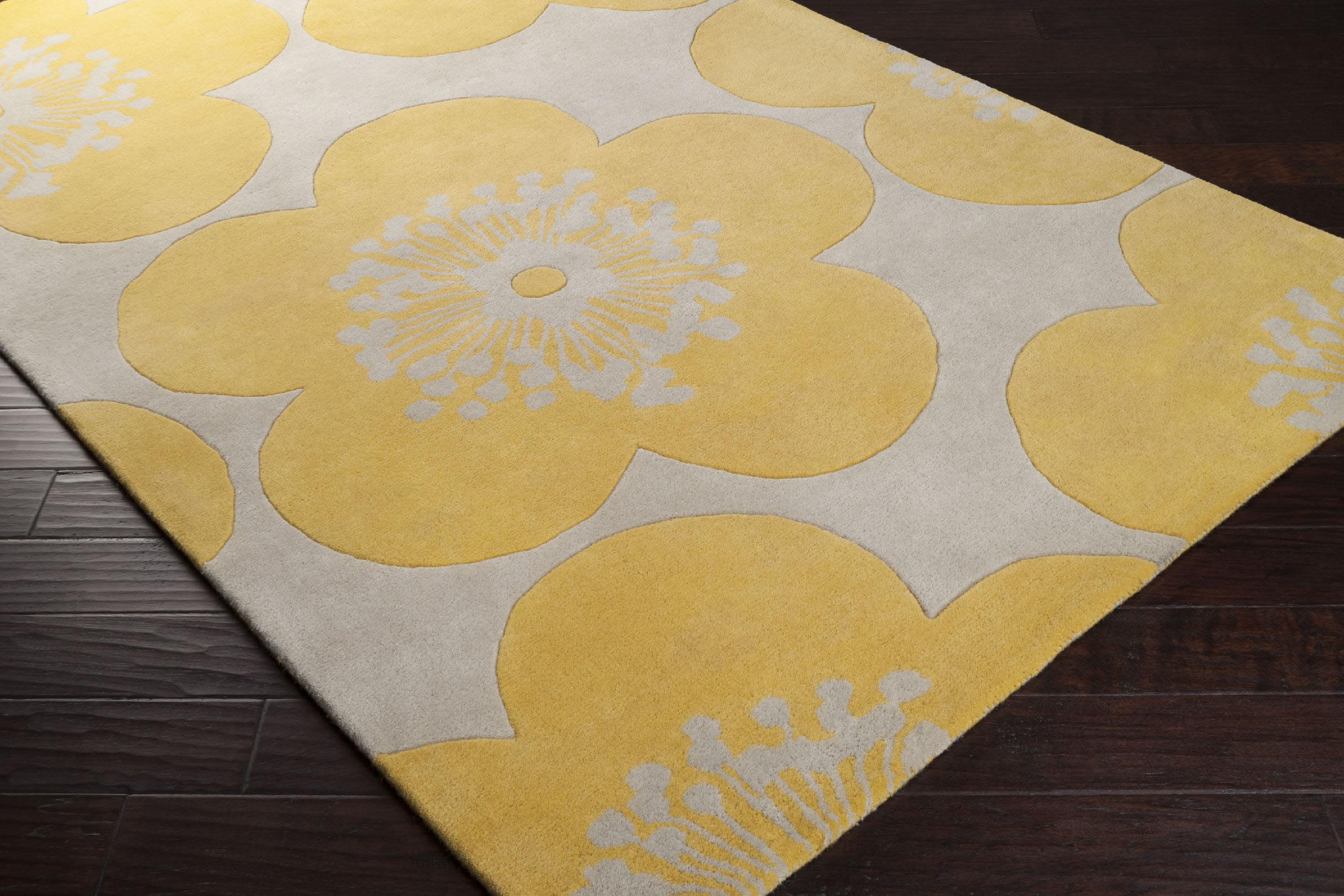 Yellow Floral Area Rug Best Decor Things