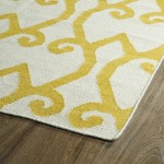 Yellow Geometric Area Rug