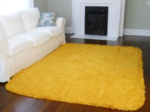 Yellow Shag Area Rug