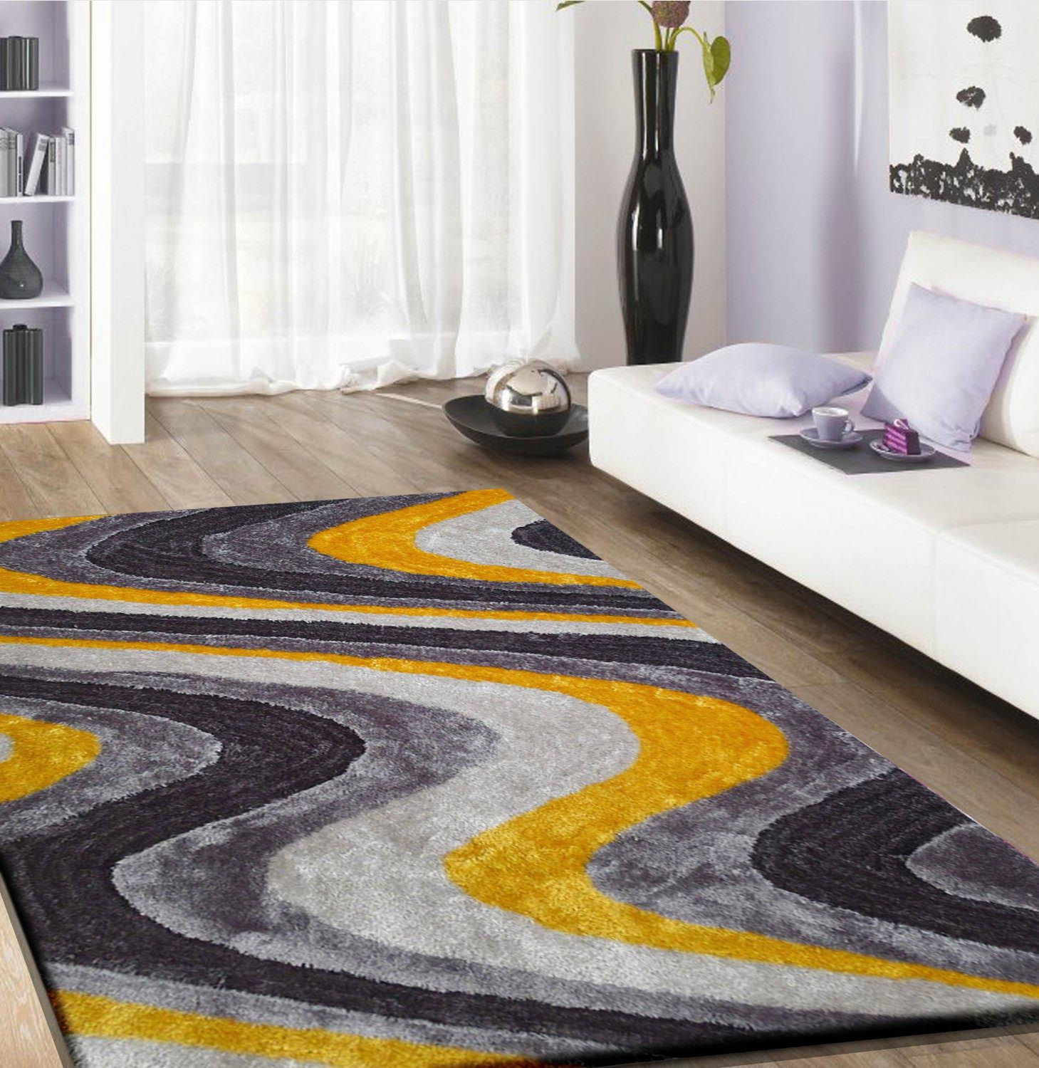 Yellow Shag Rug