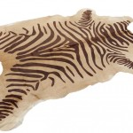 Zebra Cowhide Rug Brown