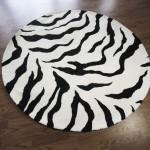 Zebra Print Area Rug 5x8
