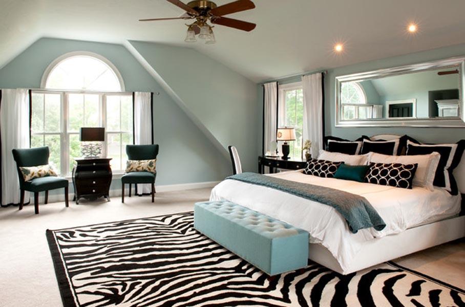 Zebra Print Area Rug