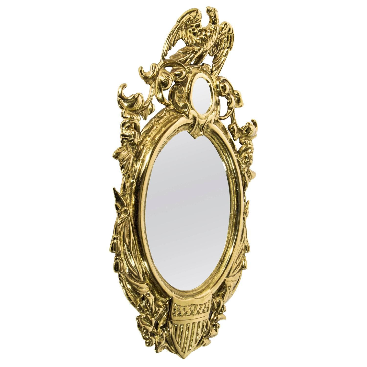 Antique brass wall mirrors best decor things for Antique wall mirrors