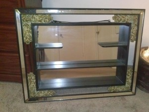 Antique Wall Mirror with Shelf