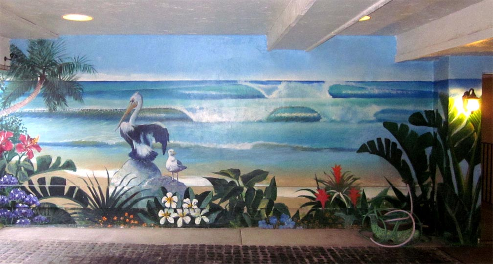 Where do beach wall murals suit best decor things for Beach mural painting