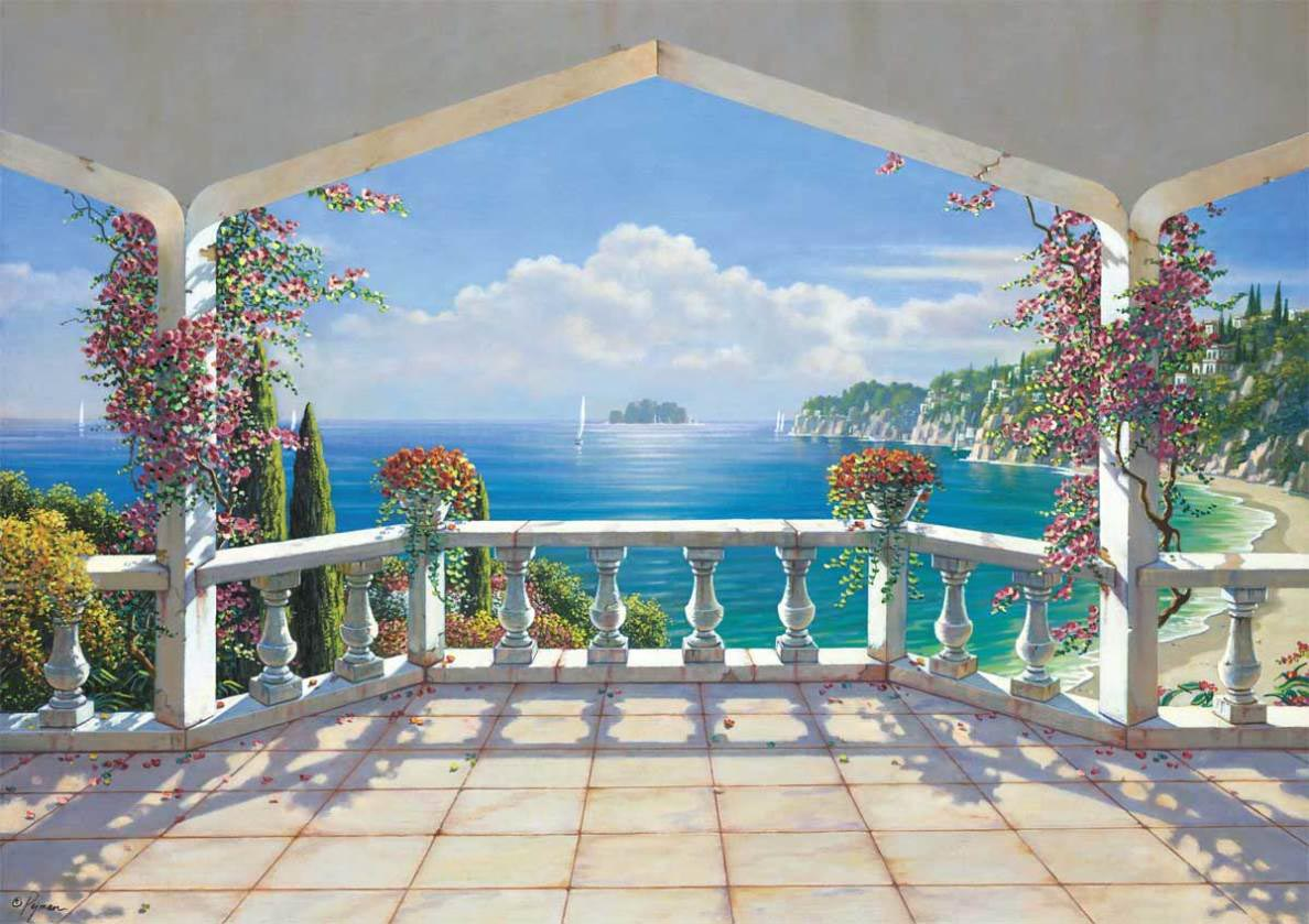 Beach wall murals cheap best decor things for Cheap mural wallpaper