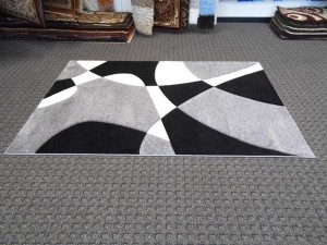 Black and White Carpet Design