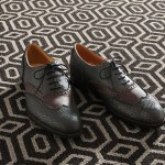 Black and White Patterned Carpet