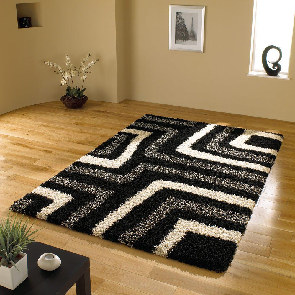 Black and White Shag Carpet