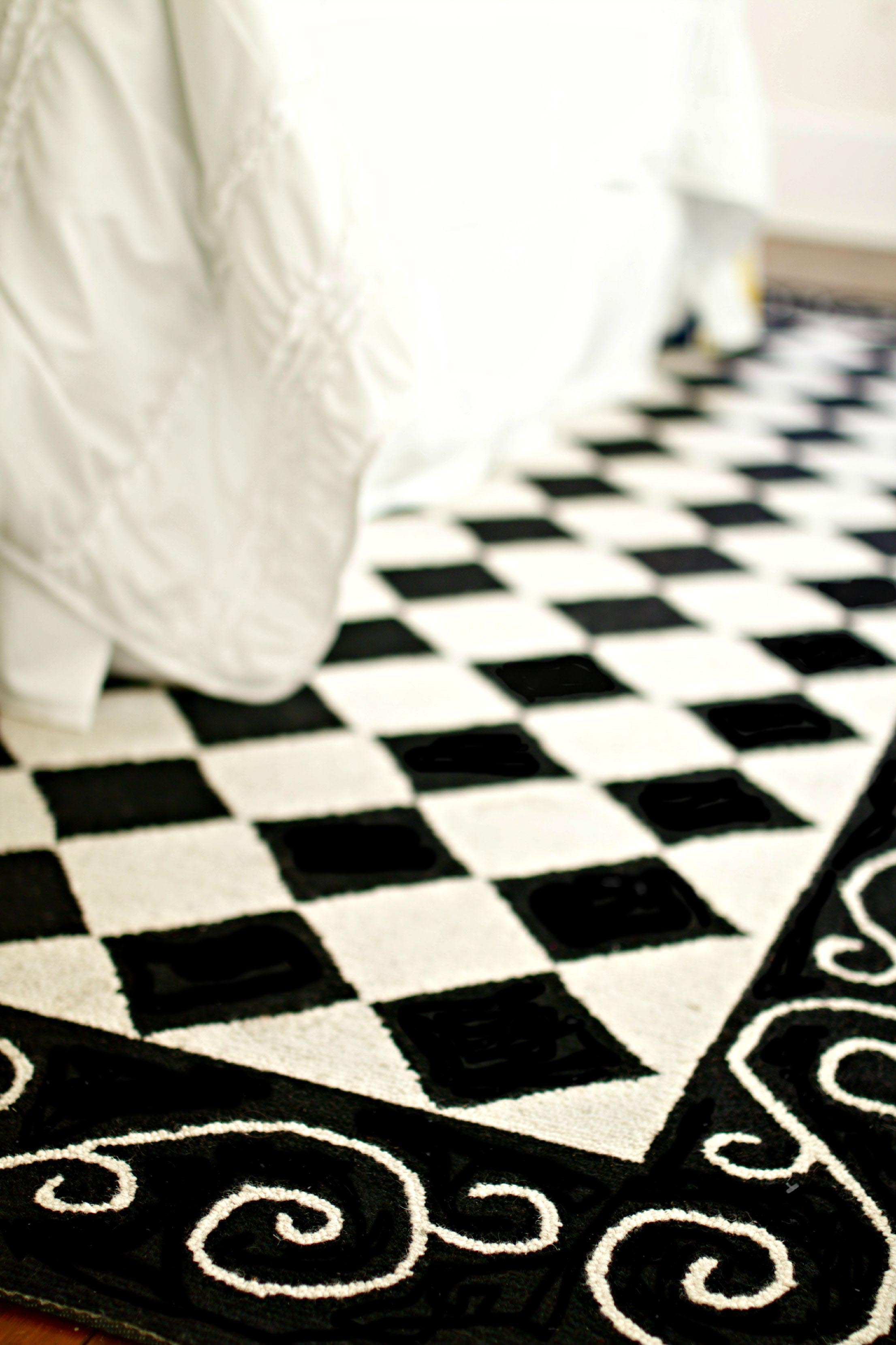 Checkered Carpet Black and White