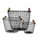 Decorative Black Wire Baskets