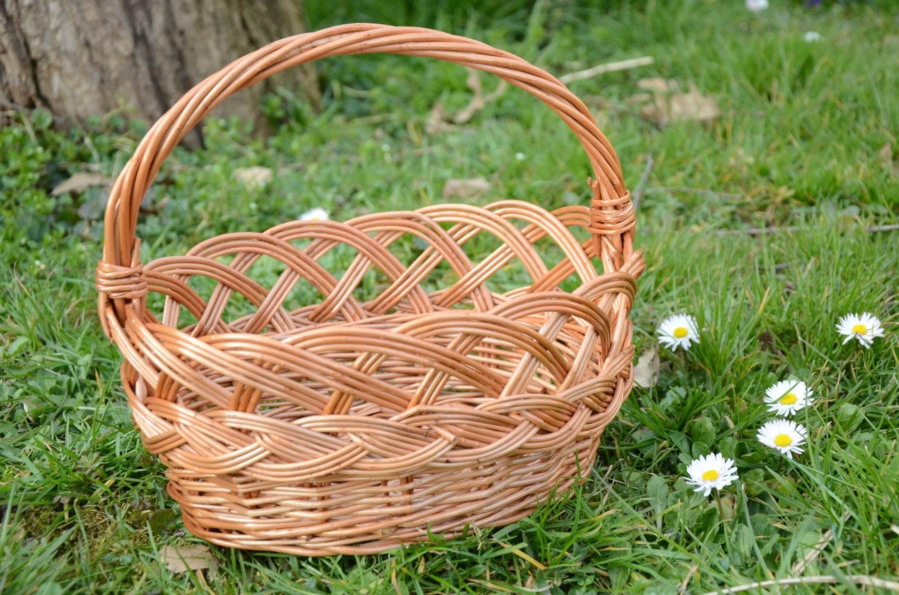 Decorative Wire Baskets with Handle