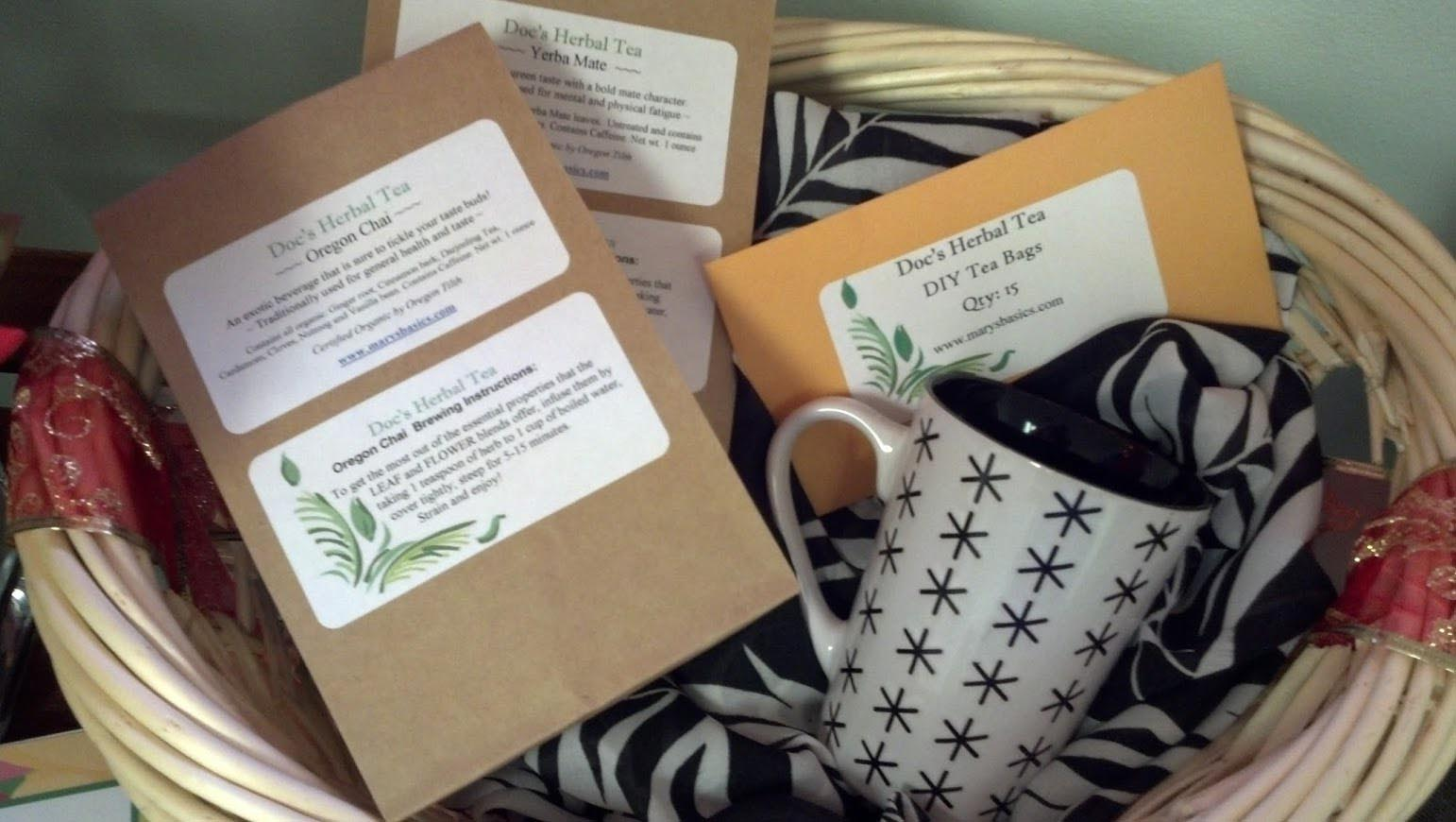 Herbal Tea Gift Baskets