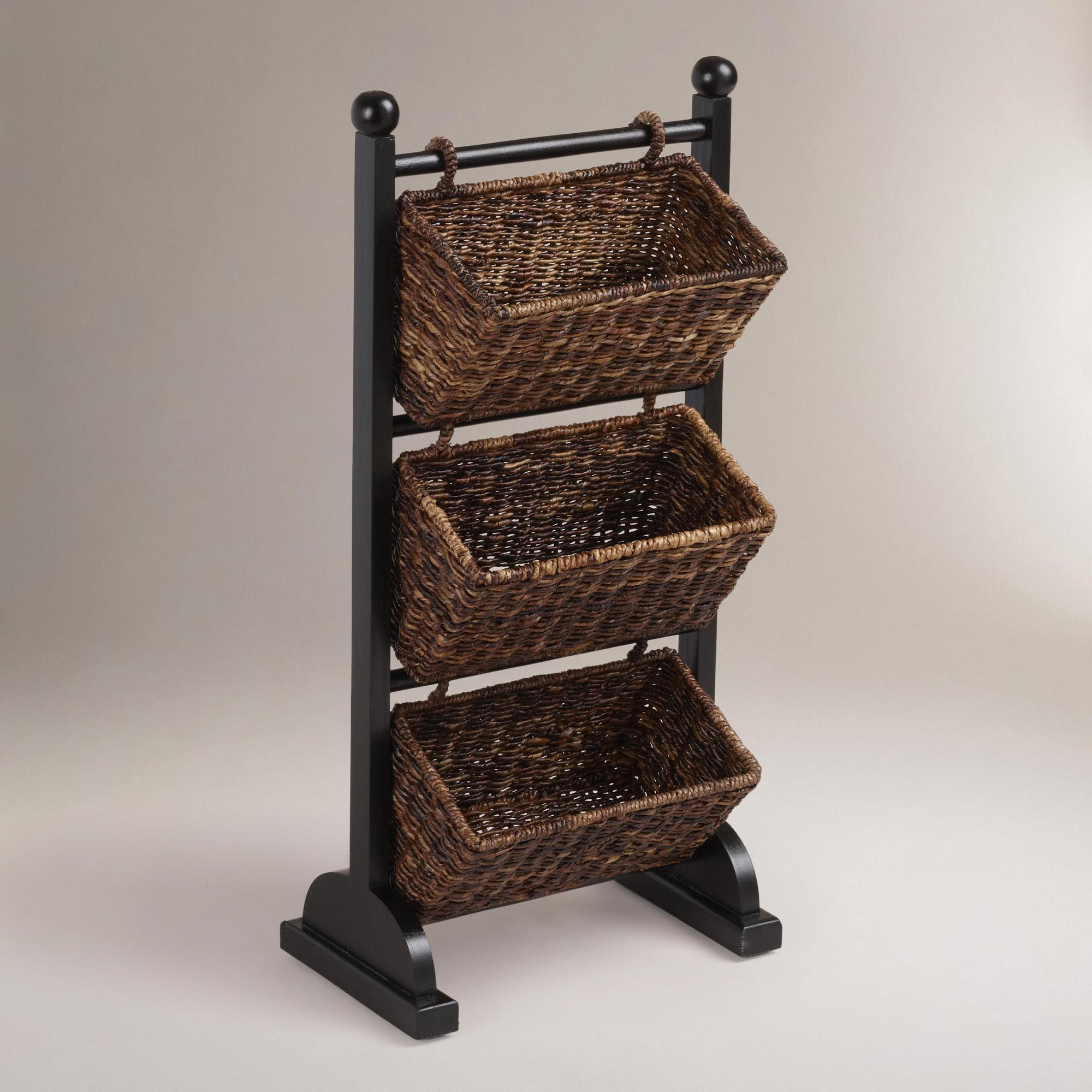 Shelf with Storage Baskets