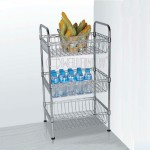Shelf with Wire Baskets