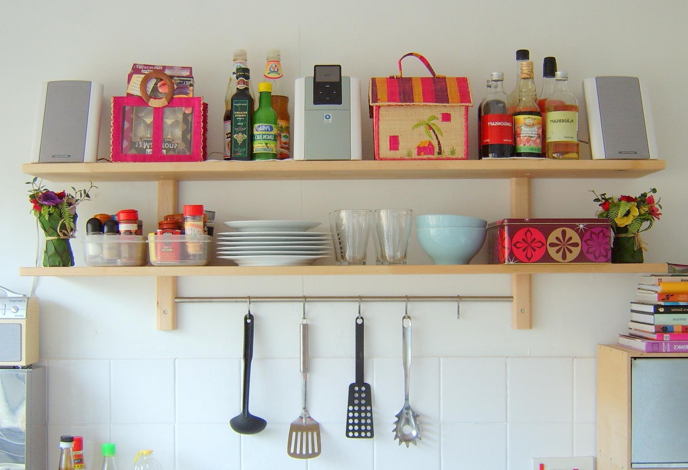 Shelves For Kitchen Wall Best Decor Things
